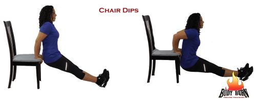straight leg chair dips,