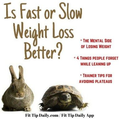 slow and steady weight loss