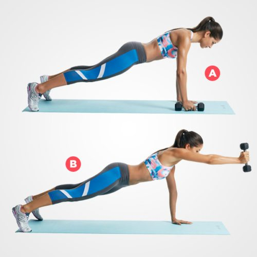 plank shoulder raise
