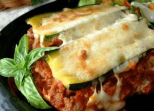 low carb zucchinni lasagna