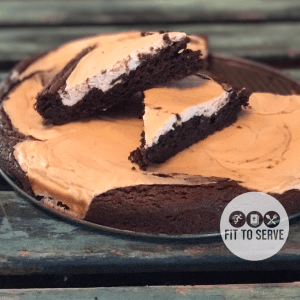 Keto Cheese Swirled Brownies