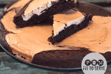 Low carb cream cheese swirled brownies