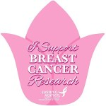 tulip signs to support breast cancer awareness. Susan G Komen race for the cure.