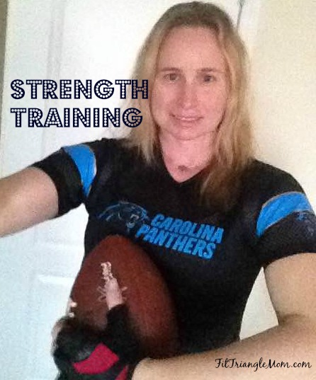 strength training for the Carolina Panthers inspired Sweaty Super Bowl workout . Targets your arms, legs and abs.