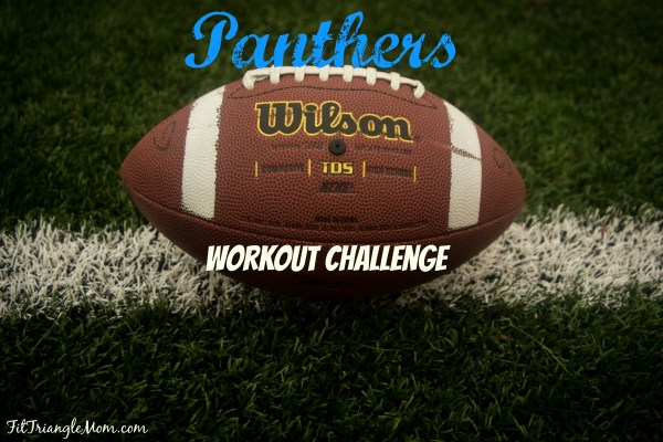 Carolina Panther inspired Sweaty Super Bowl workout challenge. 3x a week. Run and strength train. Get your booty in gear.