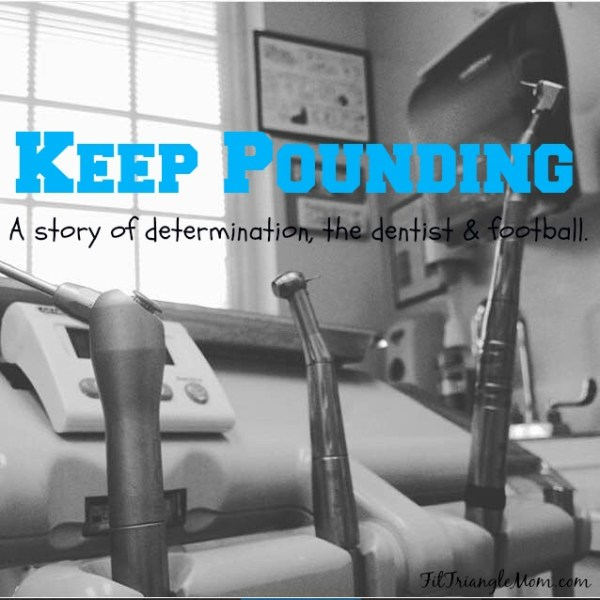 A story of determination, going to the dentist and football. Sam Mills and the Carolina Panthers' mantra Keep Pounding