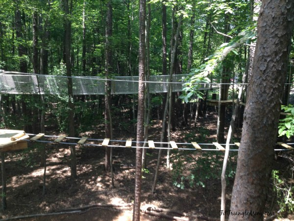Loop 2 is tricky, but your kids will learn to balance. Go Ape Adventures.