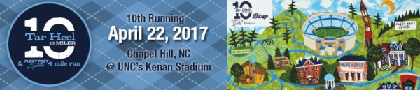 tarheel 10-miler registation chapel hill, nc