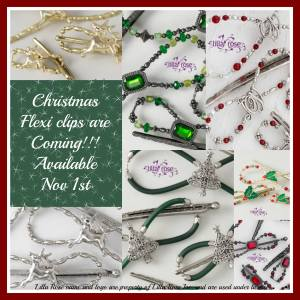 Christmas hair clips. Great gifts for the Holidays.