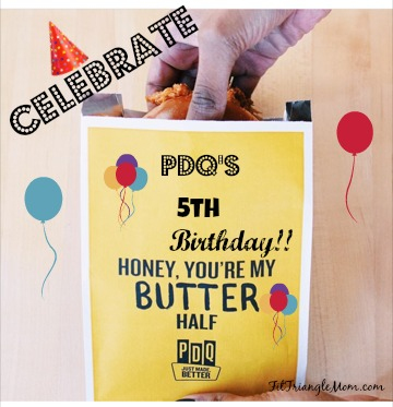 PDQ 's 5th birthday celebration with the Honey Butter Sandwich