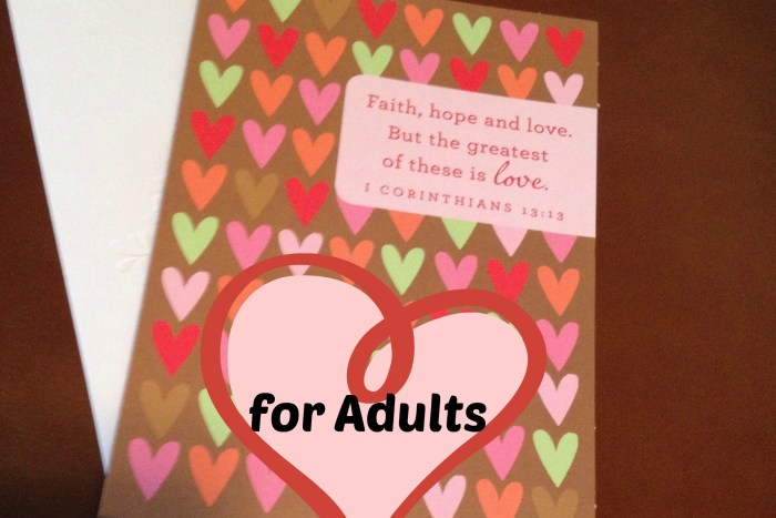 Create Valentines Day gifts for your adults. Tell your friends how much you love them.