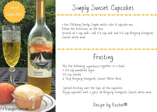 simply sunset wine cakes are made from Gregory Vineyards Sunset white wine.