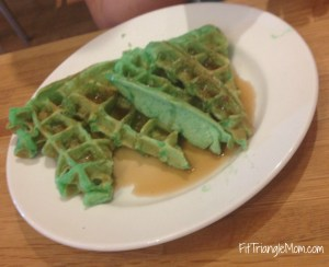 Christmas tree waffles- Southern Season Cooking school Triangle NC summer fun for kids and parents