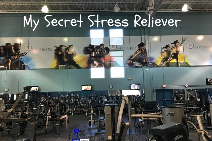 My secret stress reliever is O2 Fitness gym. They have childcare, weights, pool, sauna and fitness classes.