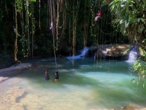 YS falls rope swing Jamaica
