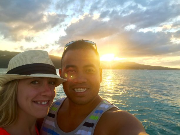 montego bay jamaica sunset