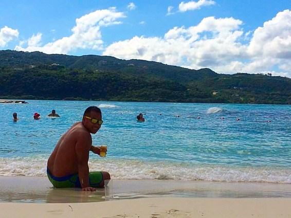 crystal clear beach montego bay jamaica