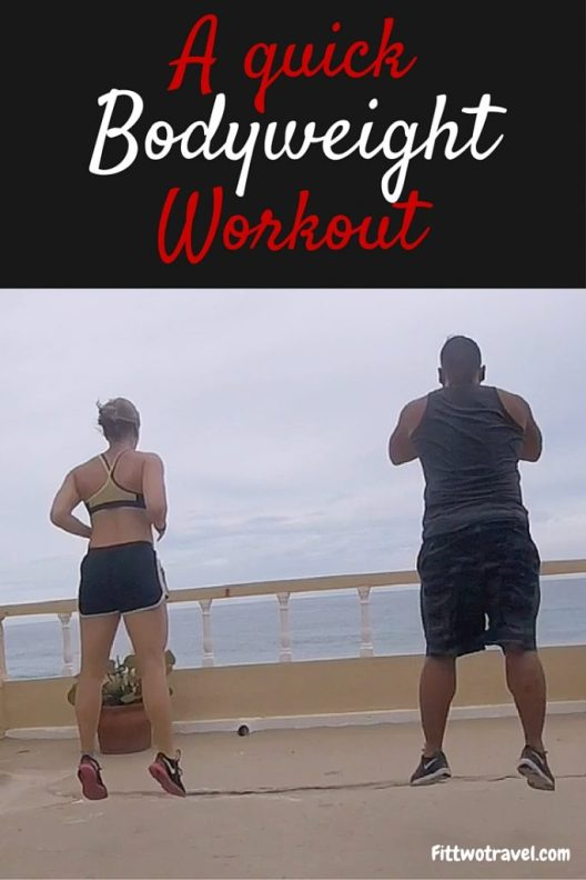 A quick and easy bodyweight workout to do while traveling. No equipment needed to exercise on the go fittwotravel.com