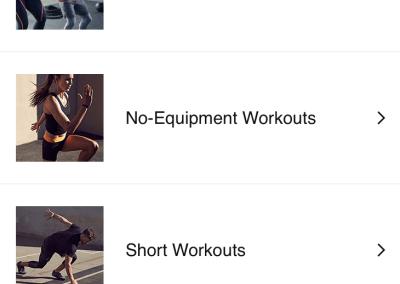 nike+ training club workout app