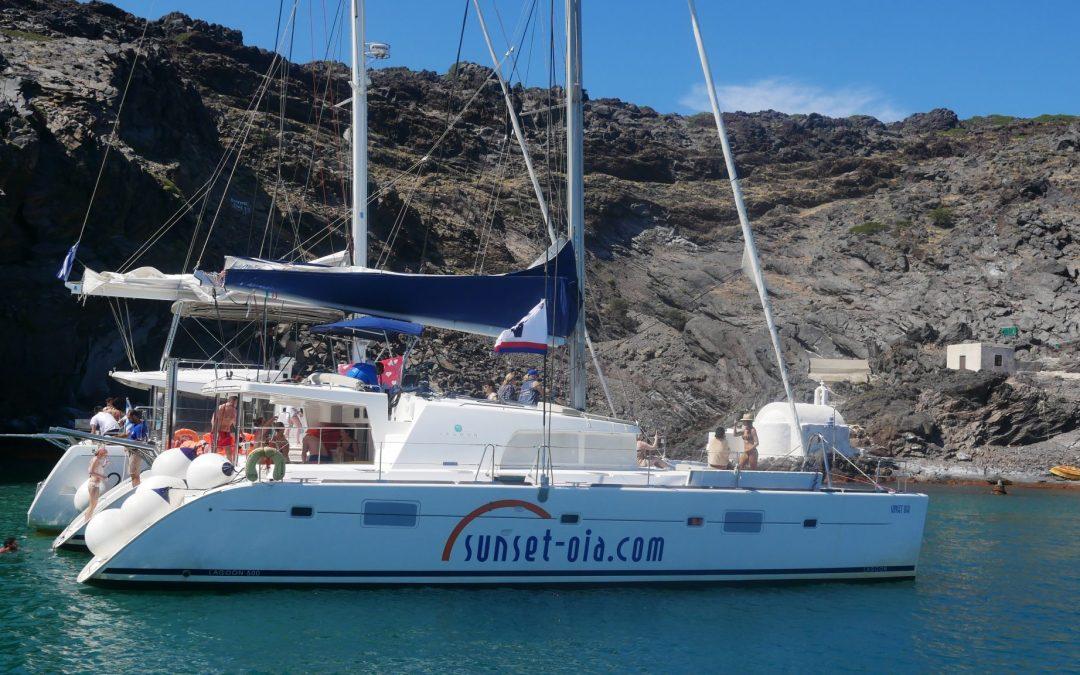 Sailing In Santorini Catamaran Tours Sailing Tours