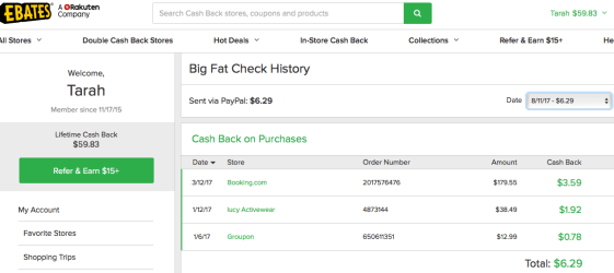 Easy tips to save money Ebates cash back fittwotravel.com