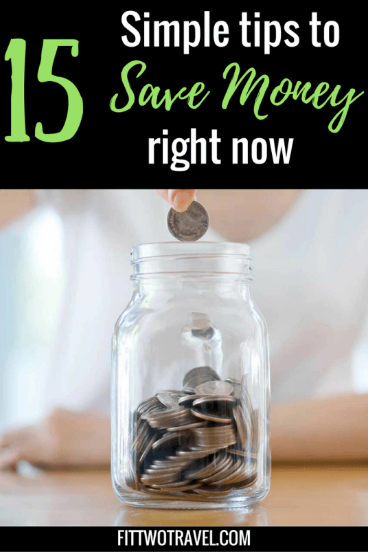 15 simple tips to save money for your vacation | Money Saving Tips | Tips to Budget for a Vacation| How to save money each week fittwotravel.com