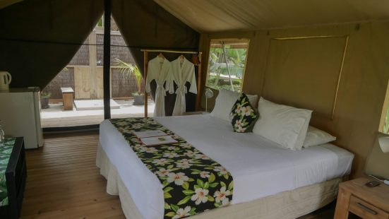 Glamping in Rarotonga eco retreat fittwotravel.com