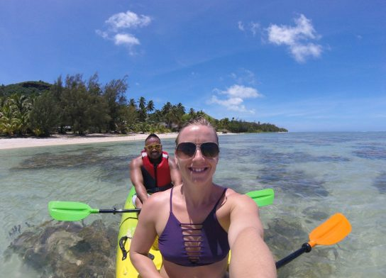 kayaking Cook Islands fittwotravel.com