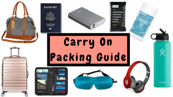 Carry On Essentials for Long Flights