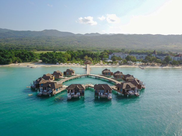 Overwater bungalows Jamaica South Coast