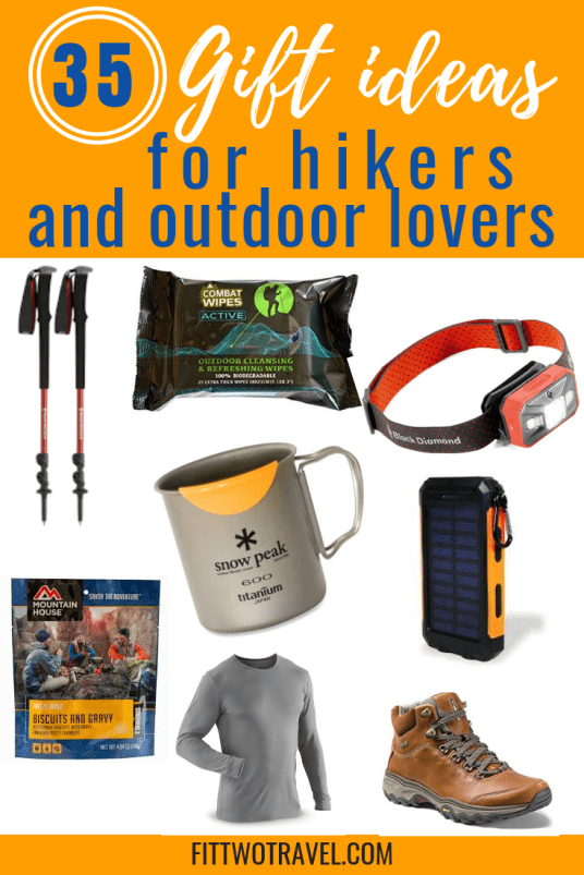the best gifts for hikers, campers, and outdoor lovers, including clothing, food, electronics and important accessories #hiking #giftguide