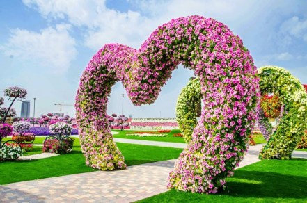 things to do in Dubai for couples Dubai Miracle Garden