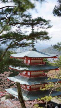 Where to see Mt Fuji Chureito Pagoda