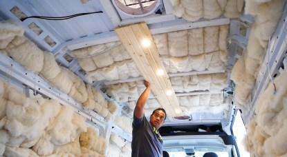 installing ceiling in van