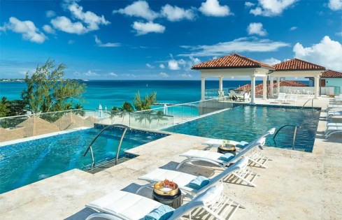 sandals royal barbados roof top pool