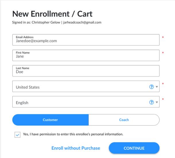 Share-a-cart customer info