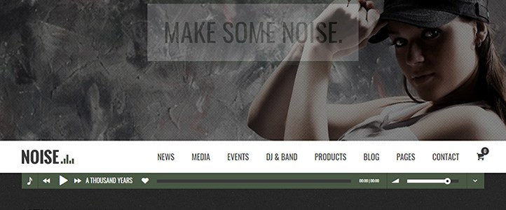 NOISE WordPress Theme Desktop