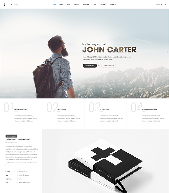 TheJ WordPress Portfolio Theme Screenshot