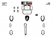 Nissan Juke 2011-2014 3M 3D Interior Dashboard Trim Kit
