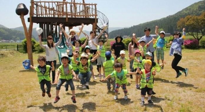 日本馬拉松大多會開設小童組別。這個柬北風土馬拉松也不例外。