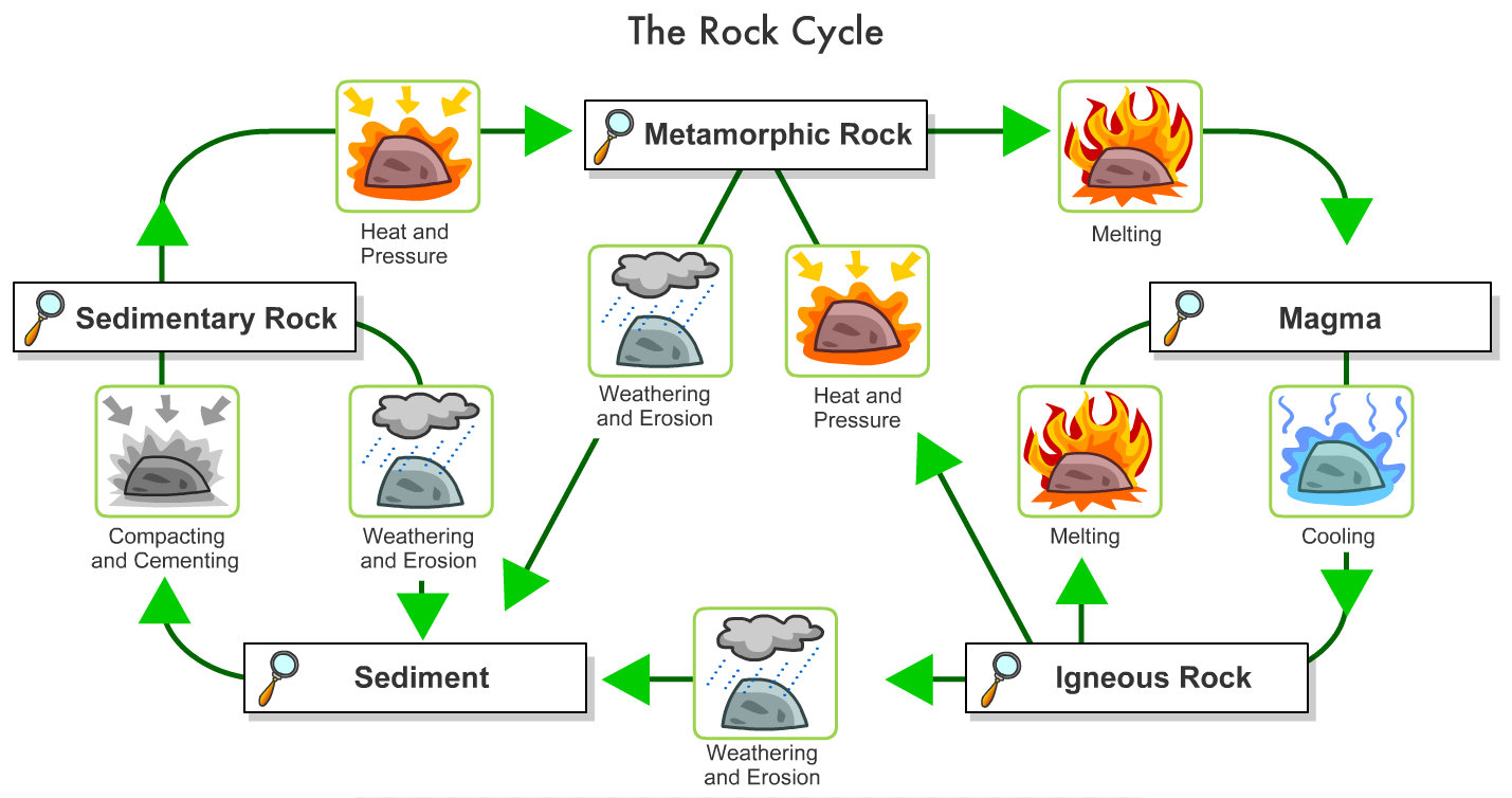 Rock Cycle Science 6 T Fms