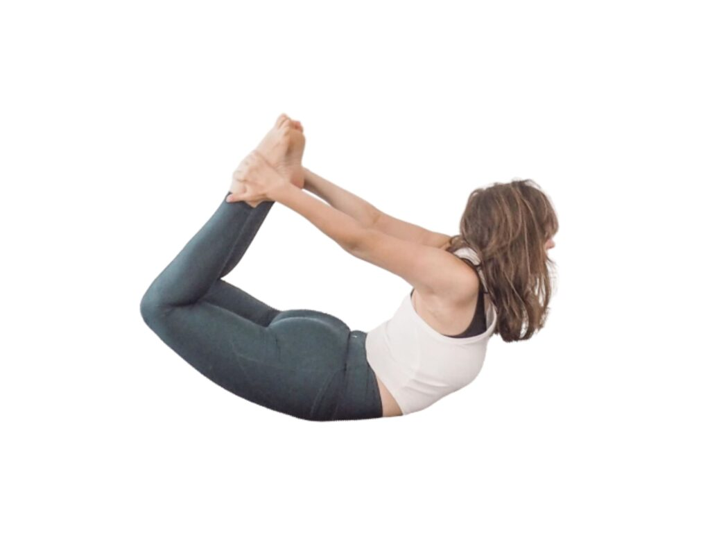 Bow Pose (Dhanurasana) for Lower belly Fat Yoga - FITZABOUT