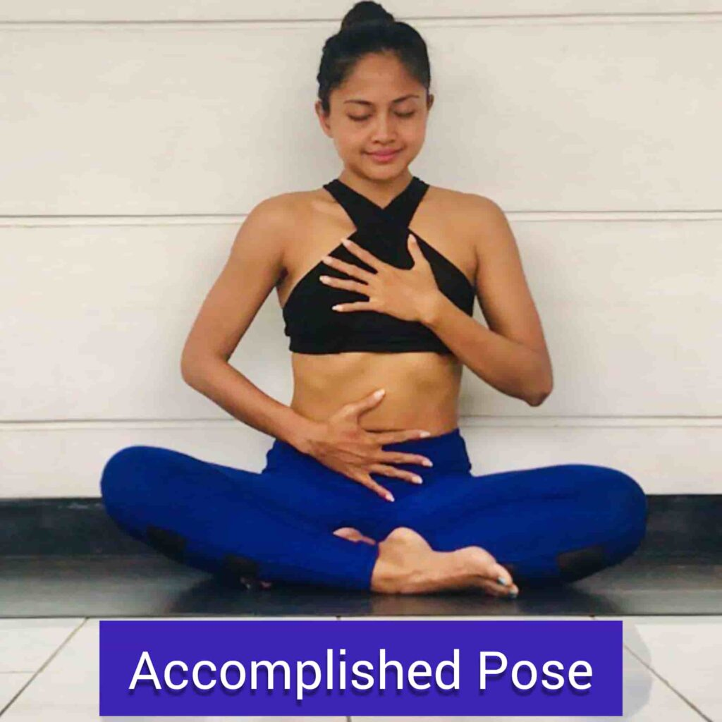 Accomplished Pose for stress relief yoga - FITZABOUT
