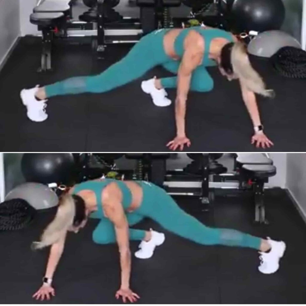 Lateral mountain climber for Bodyweight Circuit Workout - FITZABOUT