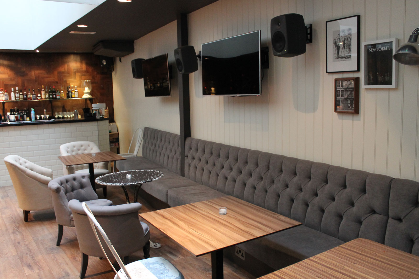 restaurant sofa booth seating sectional leather sofas ottawa banquette for envy bar london fitz impressions