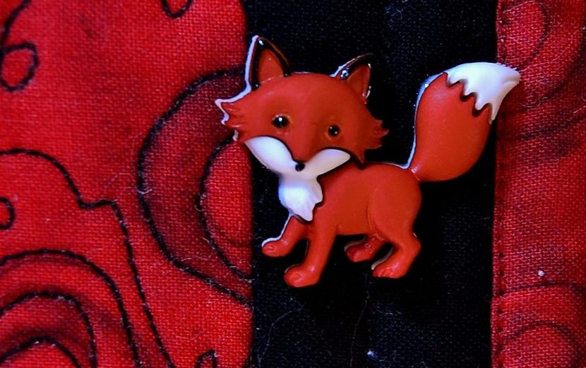 Fairytale Writing Button Fox