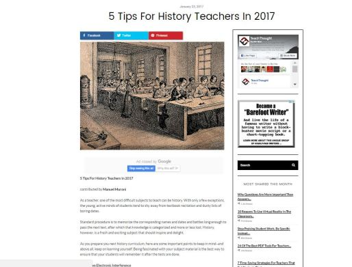 teach history training blog