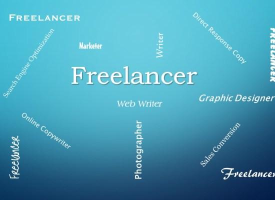 Freelancer word diagram - blue