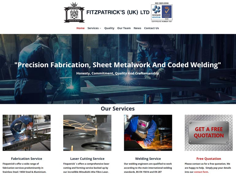 Fitzpatrick's New Metal Fabrication Company Website Goes Live