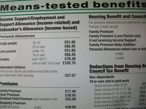 Housing benefit poster